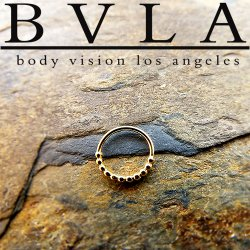 "BVLA 14kt Gold ""Oaktier"" Septum Nose Daith Ring 20 Gauge 20g Body Vision Los Angeles"