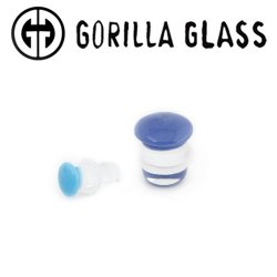 "Gorilla Glass Color Front Single Flare Plugs 12 Gauge to 1"" (Pair)"