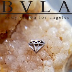 "BVLA 14Kt Gold ""Diamond"" Threadless End 18g 16g 14g ""Press-fit"""