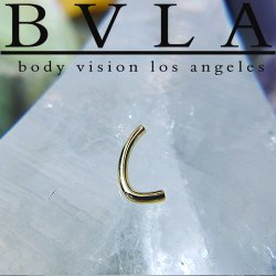 BVLA 14kt & 18kt Gold J-Curved Barbell (Shaft Only) 16 Gauge 16g Body Vision Los Angeles