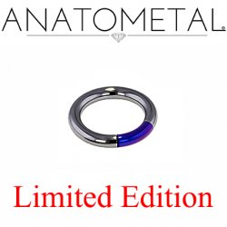 "Anatometal Black Niobium 1/2"" Segment Ring 8 Gauge 8g Limited Stock"