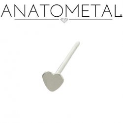 Anatometal Surgical Stainless Steel 5mm Heart Nostril Screw Nose Ring Nail 20 Gauge 18 Gauge 20g 18g