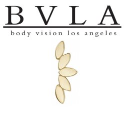 "BVLA 14kt & 18kt Gold ""Serenity"" Threaded End 18g 16g 14g 12g Body Vision Los Angeles"