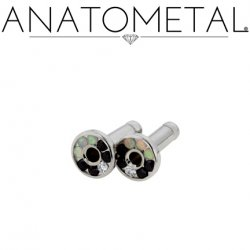 Anatometal Surgical Steel Multi-Gem Eyelet 8 Gauge 8g
