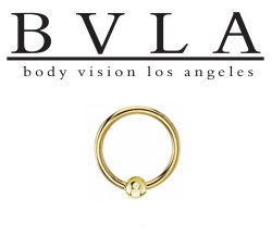 "BVLA 14kt & 18kt Gold ""Captive Bead Closure Ring Or Fixed Bead Ring 7/16 - 5/8"" "" 14g Body Vision Los Angeles"