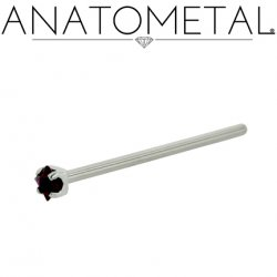 Anatometal Surgical Steel Prong Princess 2mm Gem Nostril Screw Nose Ring Nail 20 Gauge 18 Gauge 20g 18g