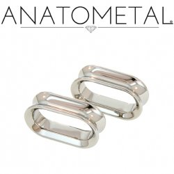 "Anatometal Titanium Oval Eyelet Tunnel 5/8"" to 1 1/4"""