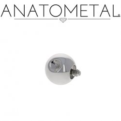 Anatometal Titanium Threaded Slave Dent Dimple Ball End 10 Gauge 10g