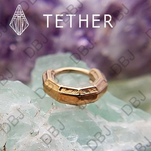 "Tether Jewelry Stainless Steel ""Tharsis"" Clicker 14 Gauge 14g - Click Image to Close"