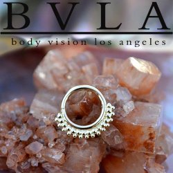 "BVLA 14kt & 18kt Gold ""Kolo"" Nose Nostril Septum Daith Seam Ring 18 Gauge 18g Body Vision Los Angeles"