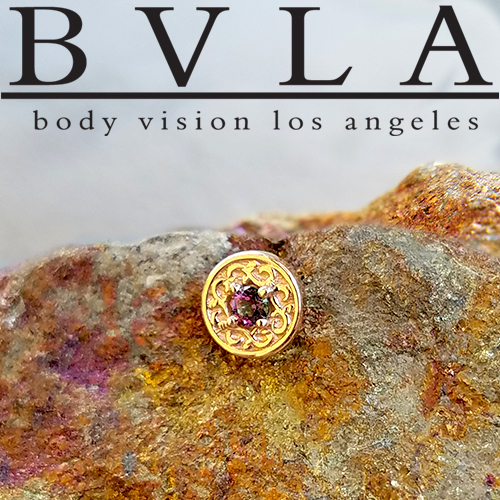 "BVLA 14kt & 18kt Gold ""Elizabeth"" 5.5mm Threadless End 18g 16g 14g ""Press-fit"""